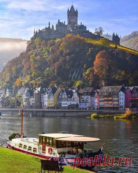 Город Кохем в Германии