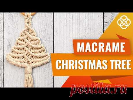 MACRAME CHRISTMAS TREE ORNAMENT | Macrame diy | Macrame christmas tree diy - YouTube Вам понадобится: - 2 шнура 170 см длиной и 3 мм толщиной - 2 шнура 150 см длиной и 3 мм толщиной - 2 шнура 120 см длиной и 3 мм толщиной - 2 шнура 100 см длиной и 3 мм толщиной - 2 шнура 70 см длиной и 3 мм толщиной - Одно кольцо