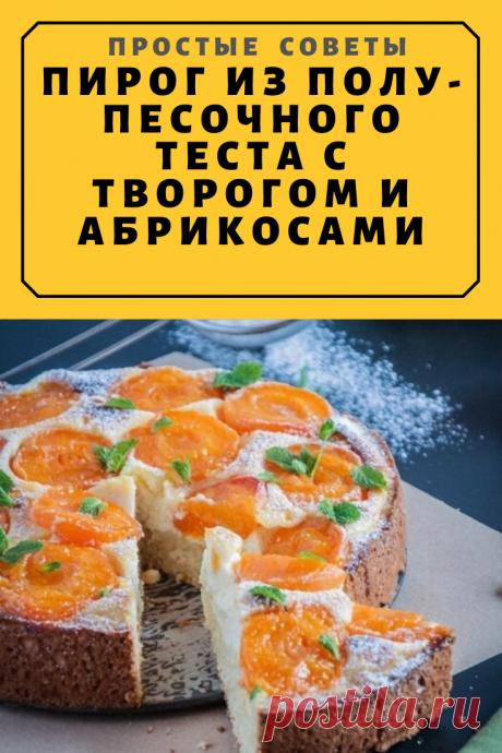 Пирог из полу-песочного теста с творогом и абрикосами — Простые советы