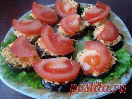 Пикантная закуска из баклажан с сыром | Банк кулинарных рецептов