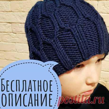 Бесплатное описание шапки от Натальи @nyusha__knits