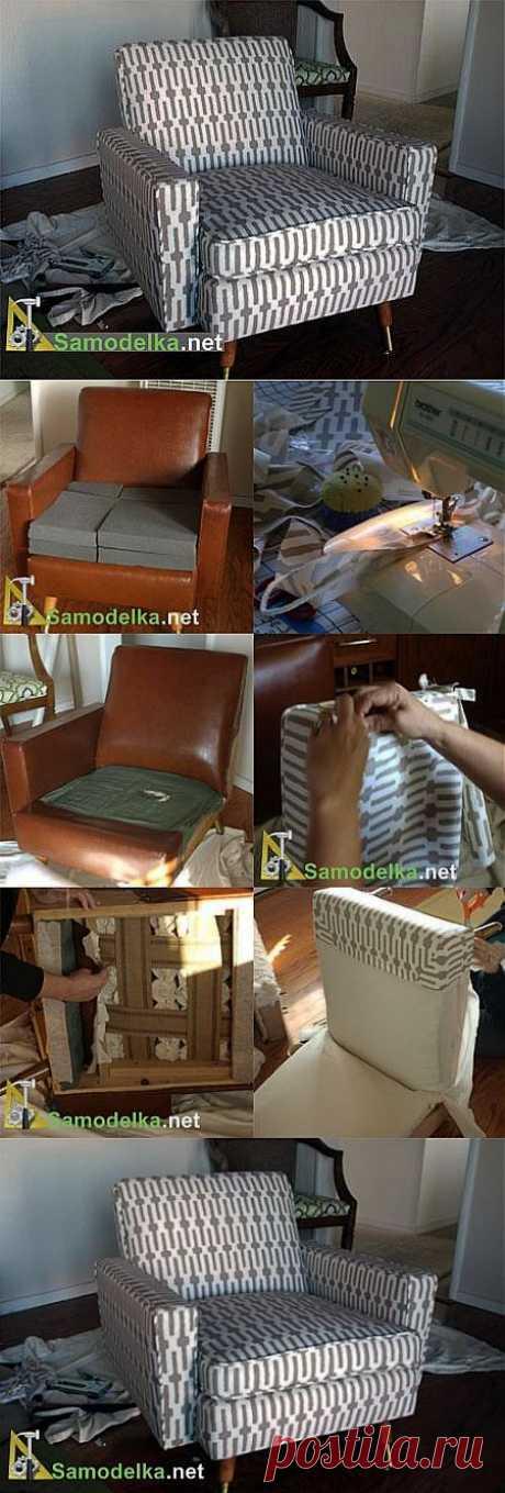Как сделать новую обивку на старом кресле -