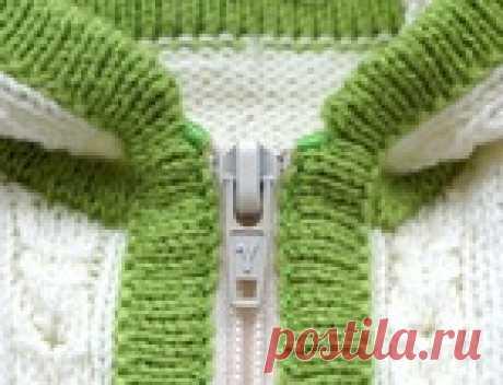 Способы незаметно вшить молнию в вязаное полотно