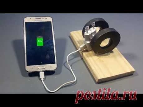 How To Make Free Energy Mobile Phone Charger With magnets | Science projects
