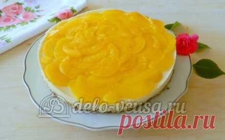 Торт с консервированными персиками рецепт с фото – пошаговое приготовление торта с персиковым суфле
