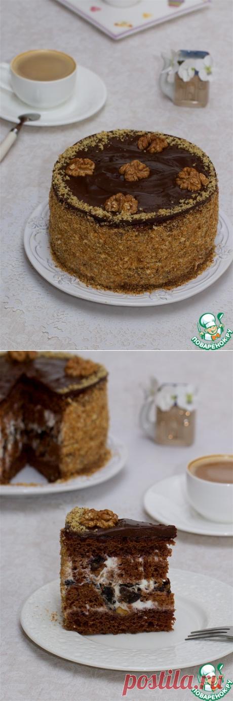 """Торт сметанный """"Орех в черносливе"""" – кулинарный рецепт"""