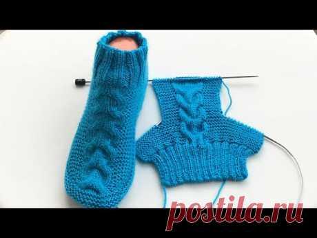 Saç örgü patik çorap modeli/ bay bayan çorap yapımı/patik nasıl yapılır