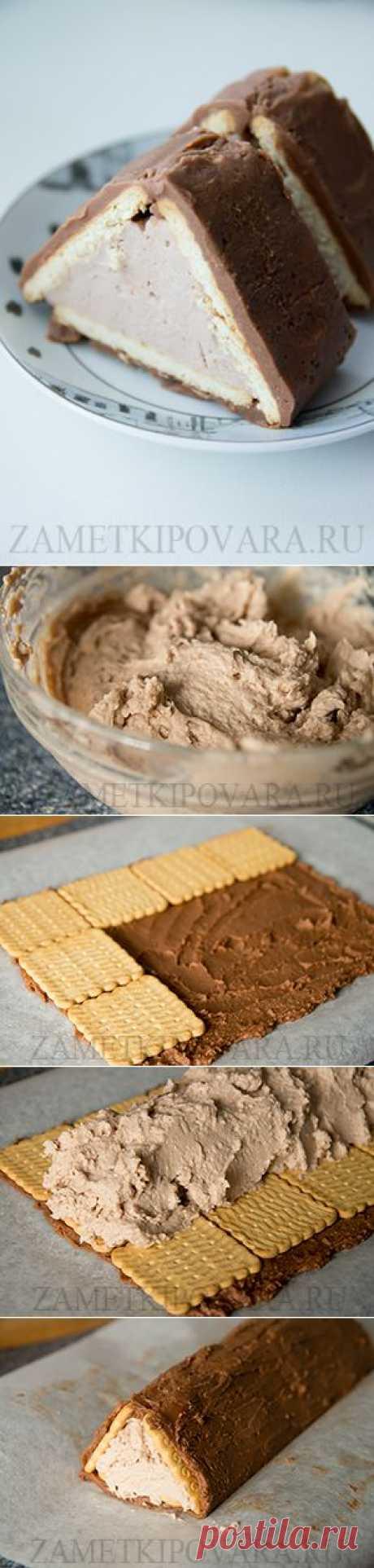 Торт-домик из печенья с творогом - лакомство, родом из детства.