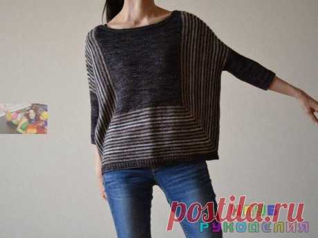 Оригинальный пуловер без швов - Клуб рукоделия