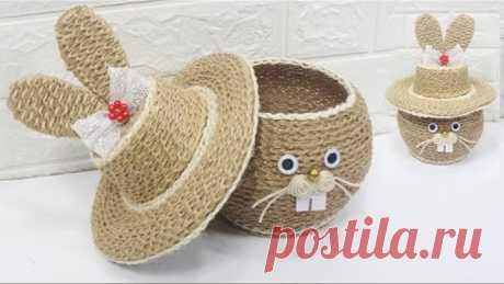 5 Jute craft ideas   Home decorating ideas handmade #7