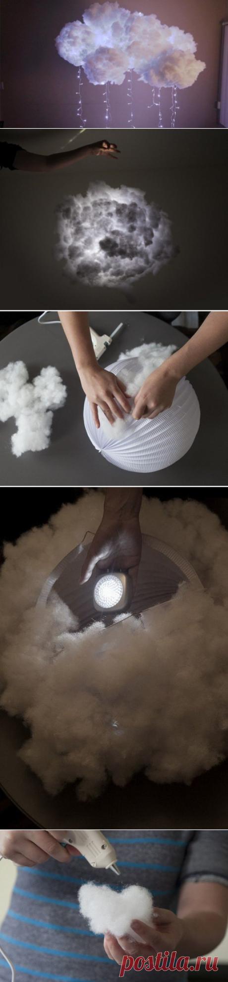 Облако-светильник своими руками