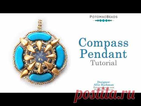 Compass Pendant - DIY Jewelry Making Tutorial by PotomacBeads