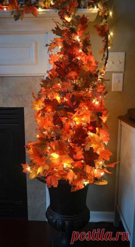 Бросила в кастрюлю 10 кленовых листьев и 3 ложки соды - восхитительные идеи декора!