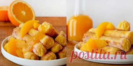 Гренки-трубочки на французский манер со взрывным апельсиновым ароматом!