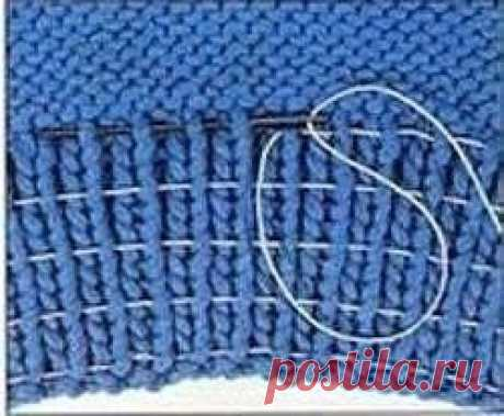 Как вшить нитку-резинку в резинку