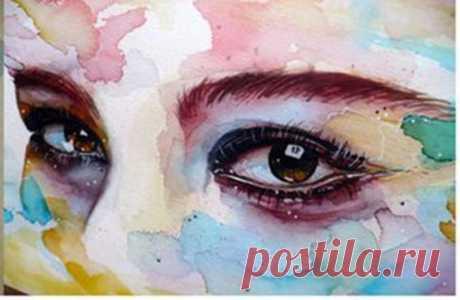 Рисуем глаза акварелью