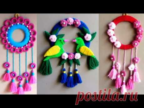 Best woolen wall and door hanging ideas at home | woolen craft making idea | best out of waste craft - YouTube