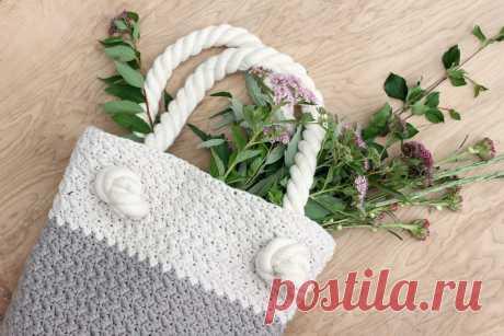 Easy + Modern Free Crochet Bag Pattern for Beginners
