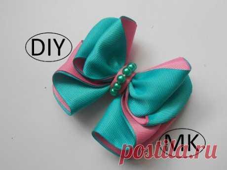 Бант из репсовой ленты МК/  Bow grosgrain ribbon DIY/ PAP Arco fita do grosgrain Tutorial