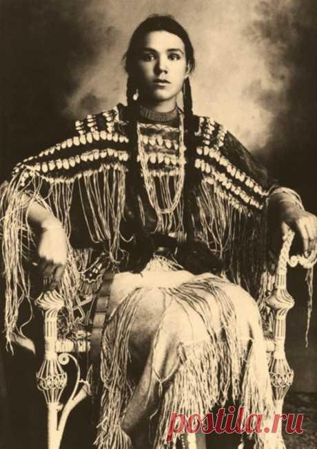 32 впечатляющих исторических фото из частных коллекций   Болтай Индианка из племени Шайеннов, Оклахома, 1890-1904 - ну чем не хохлушка?