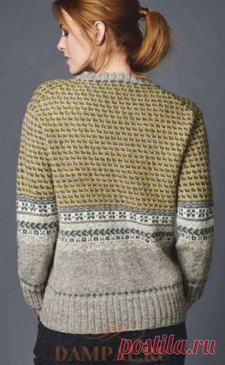 Вязаный пуловер «Каретник» — HandMade