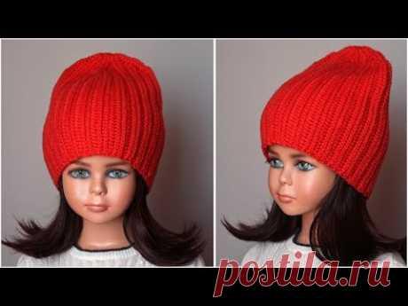Шапка крючком за один вечер, мастер класс для начинающих (crochet hat)