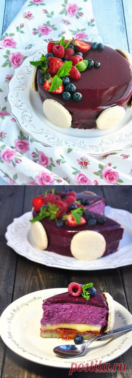 Торт с муссом из черной смородины - Mom Story