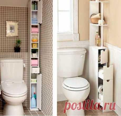 Подборка идей мебельной обстановки маленьких санузлов и туалетов | Мебель своими руками | Пульс Mail.ru Описание и фото, как можно рационально задействовать малое пространство под хранение