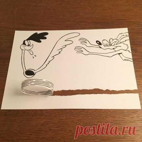 Простые и юмористические рисунки, созданные с помощью бумаги и ручки