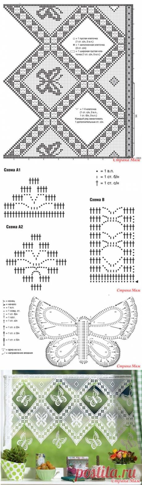 Гардина с арочной каймой - Вязание - Страна Мам
