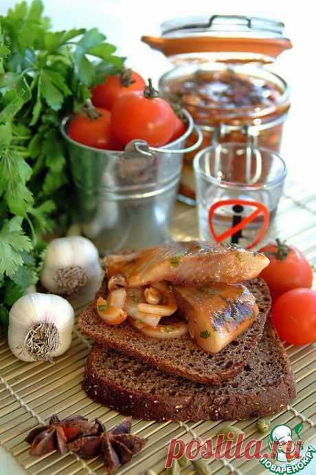 Сельдь малосольная маринованная в кисло-сладком томатном соусе. Автор: chudo
