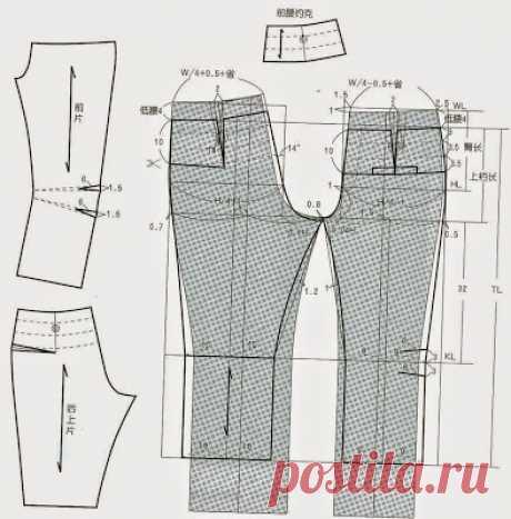 cin pants dress patterns making) - modelist kitapları