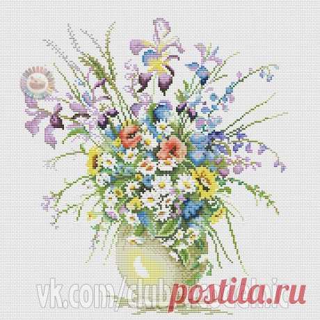#Цветы #вышивка #схемы #рукоделие #handmade #хомячки #clubrucodelnic