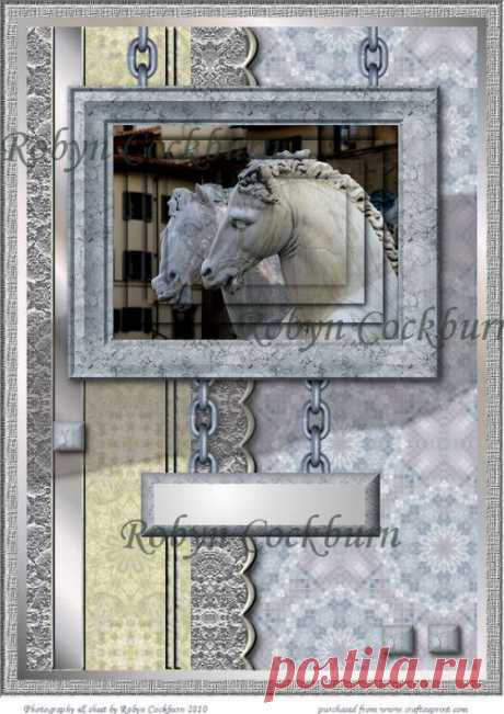 Marble Horses Card Kit
