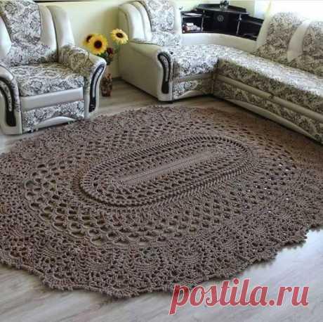 Роскошные вязаные ковры со схемами