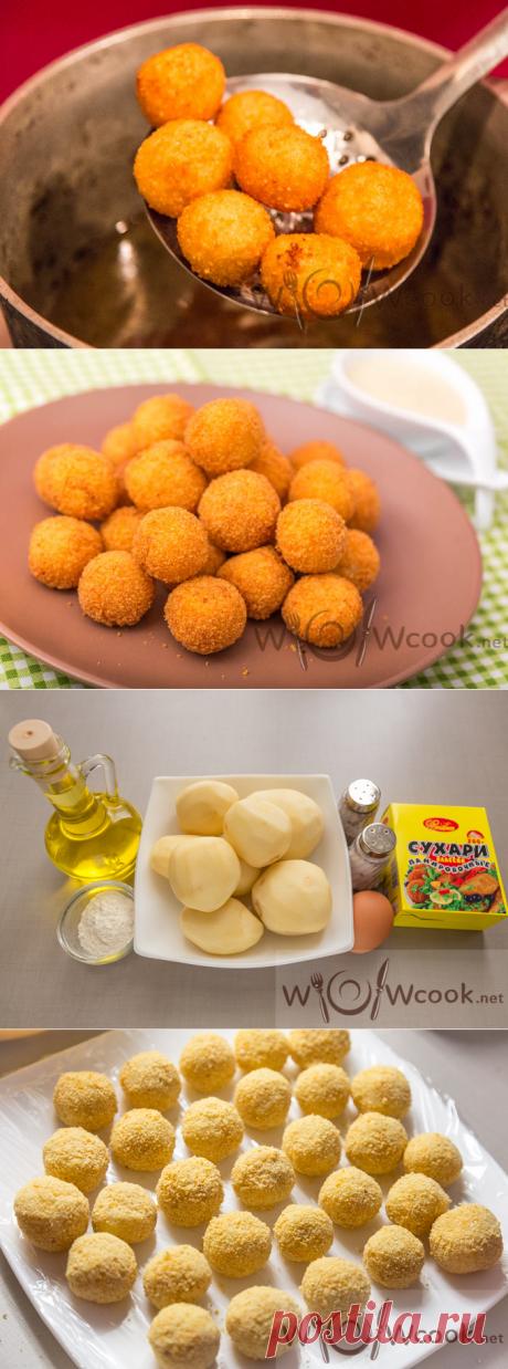The crackling potato balls, the recipe with a photo