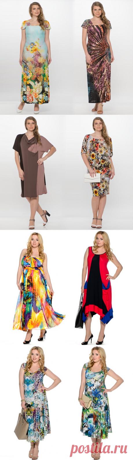 Летние платья для полных женщин 2016 (фото): удачные фасоны