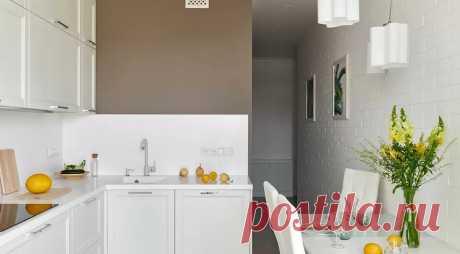 Светлая однушка с отдельными кухней, гостиной и спальней