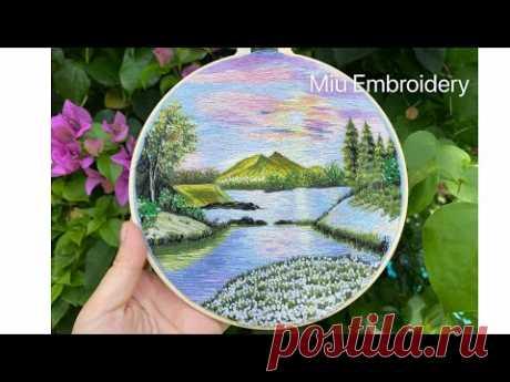 Needle Painting Landscape 🌳Renaissance🌲Hand Embroidery
