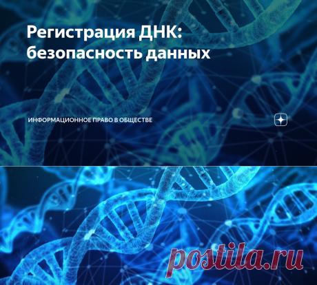 Регистрация ДНК: безопасность данных   ИНФОРМАЦИОННОЕ ПРАВО в обществе   Яндекс Дзен