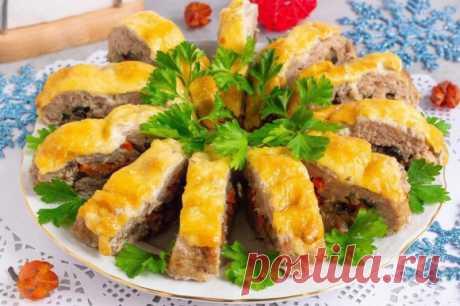 Рулет с грибами и сыром — Sloosh – кулинарные рецепты