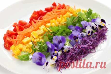 Салат «Радуга» - салат с консервированной кукурузой и болгарским перцем