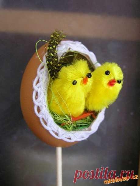 Поговорим о яйцах...куриных. Очень красиво! Мастер-класс