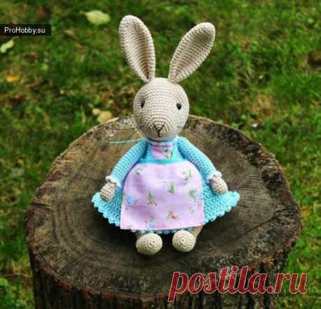 Зайка Дианы Пацкун / Вязание игрушек / ProHobby.su | Вязание игрушек спицами и крючком для начинающих, мастер классы, схемы вязания