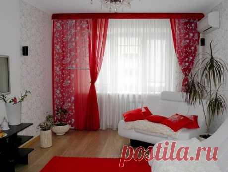 Тонкие шторы для гостиной комнаты, спальни, зала, кухни - фото
