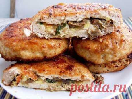 Самые вкусные рецепты: Зразы из куриной грудки с грибами и яйцами