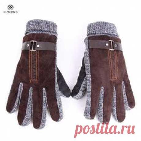 Купить товарСтильные Мужские Зимние Перчатки Guantes…