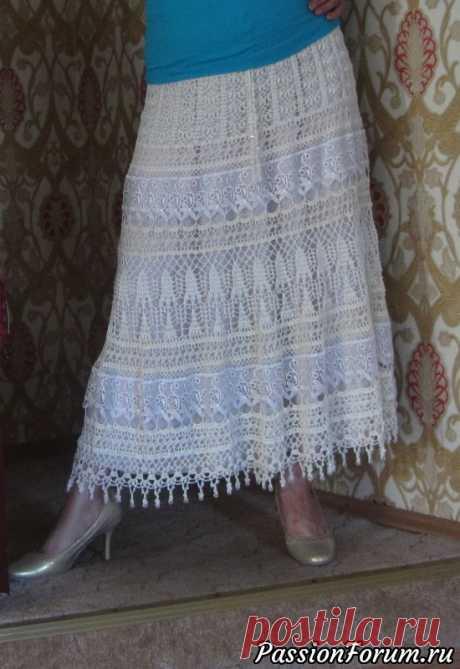 Еще одна длинная юбка с кружевом