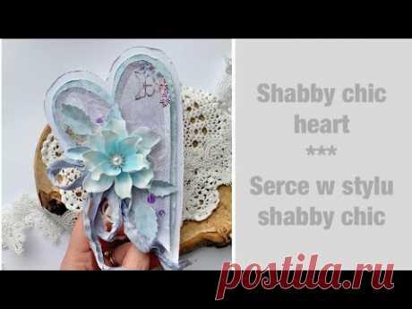 Shabby Chic heart #magicznakartka #skarbnicapomysłów #shabbychic #foamiran @Crafter's Companion dies