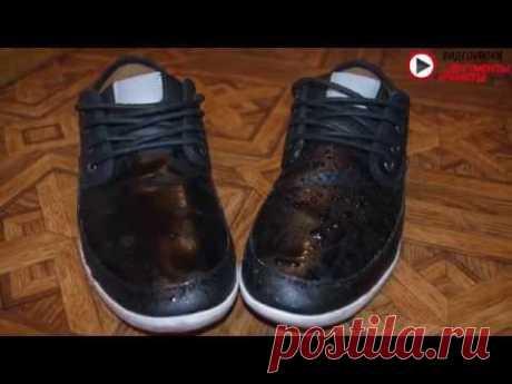 Видеоурок: как защитить обувь от промокания своими руками